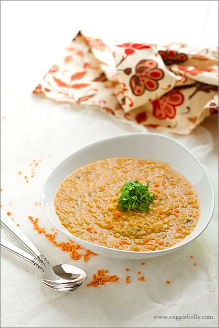 lentil soup served with a spiced yoghurt drizzle spicy lamb lentil ...