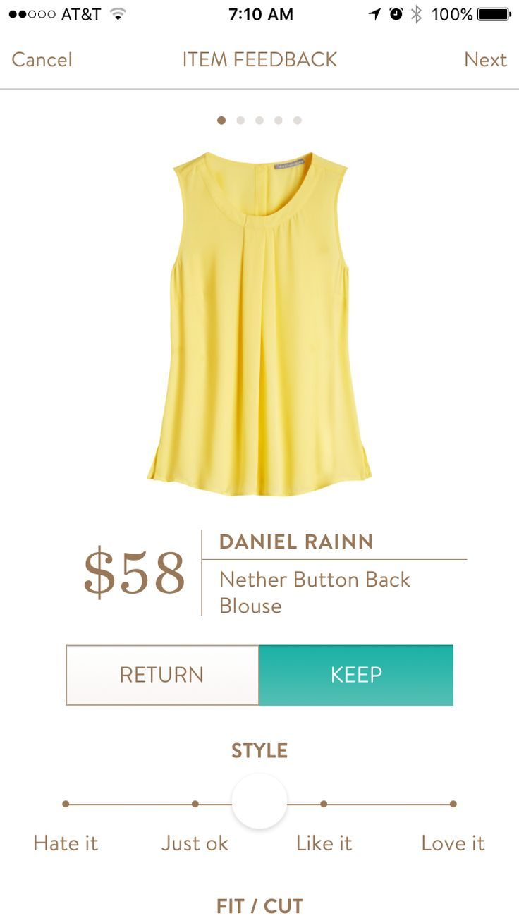 Daniel Rainn Nether Button Back Blouse - Would love this in another color. Yellow doesn't look good on me