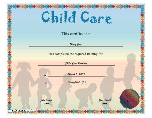 29 best KIDS CERTIFICATE TEMPLATES images on Pinterest - certificate of completion of training template
