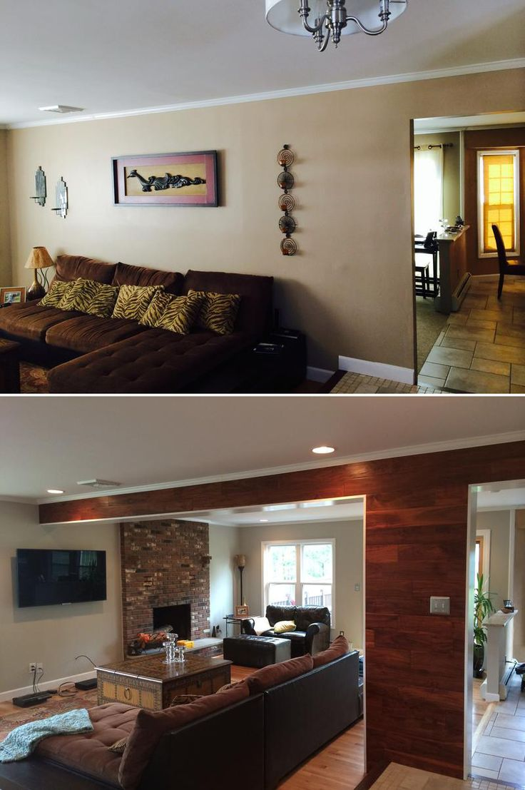 We Decided To Remove A Load Bearing Wall Separating Our Formal Living Room Family