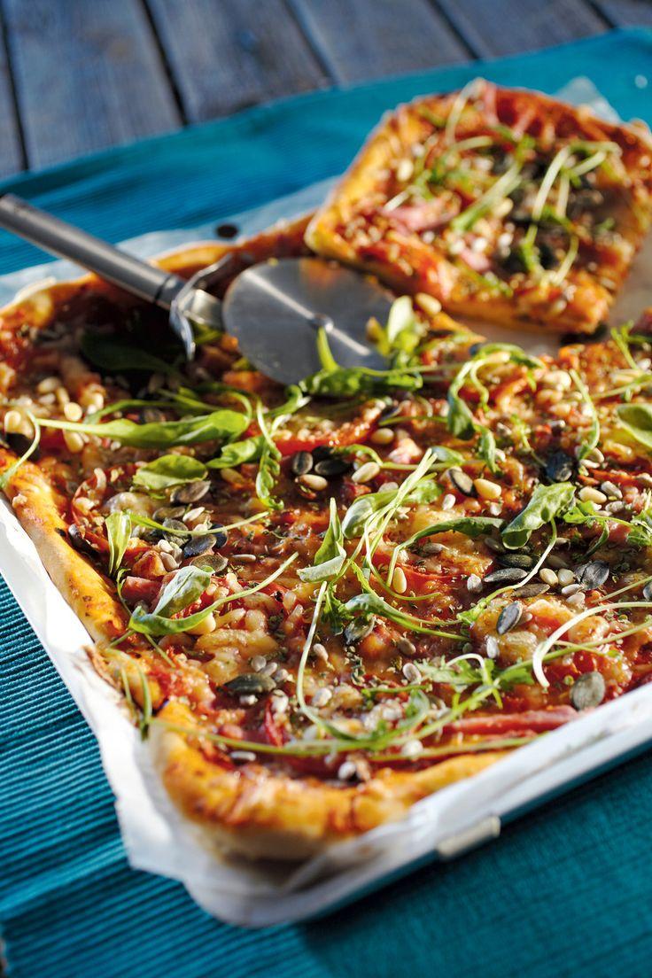 Kinkku-tomaatti-rucolapizza, pellillinen | K-Ruoka