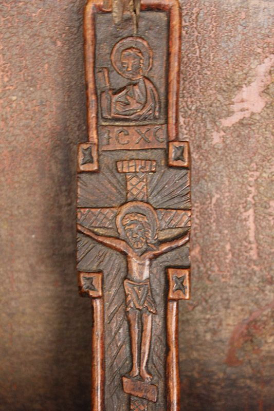 Carved Wooden Cross from Maramures