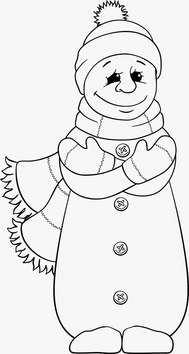 Beccy S Place Freebie Snowman Images To Color