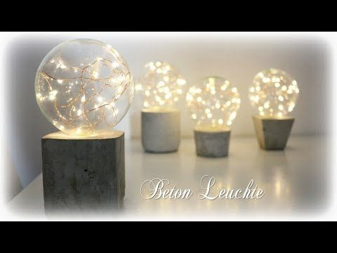 Beton Leuchte mit LED Lichterkette * DIY * Concrete Lamp [eng sub] - YouTube
