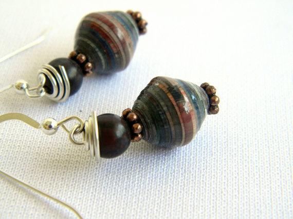 very cool paper bead earrings :)