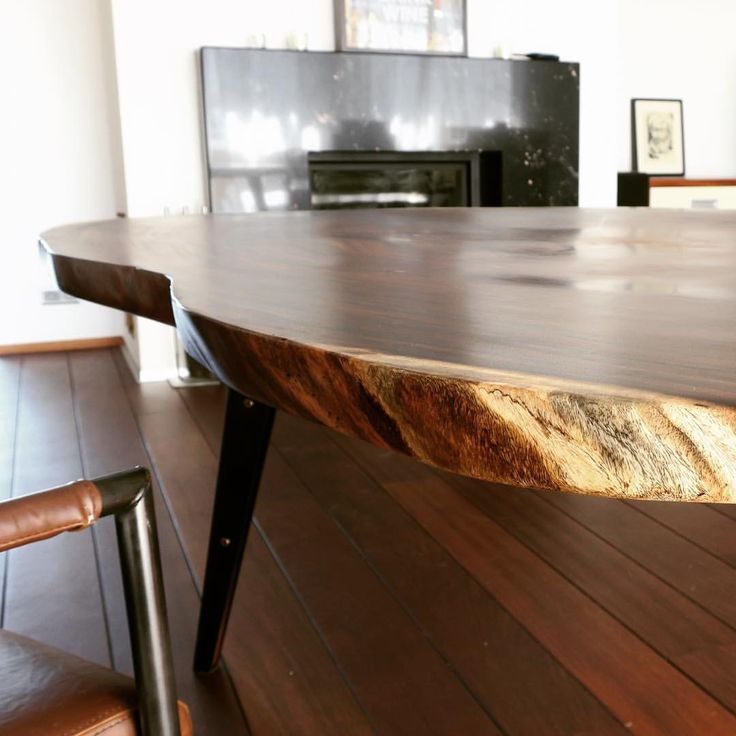Parota dining table with live edges