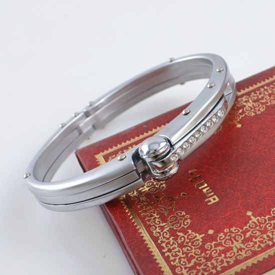 Ladies Stainless Steel Handcuff Bangle with Crystals - Unique piece http://lily316.com.au/shop/banglescuffs/ladies-stainless-steel-handcuff-bracelet-with-crystals/