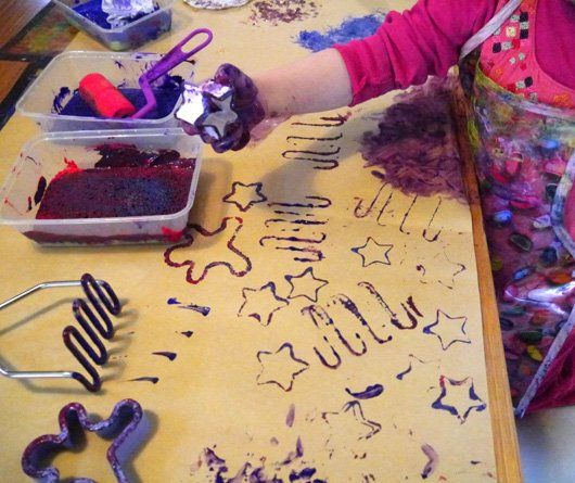 Pattern Printing for #Kids with Found Objects