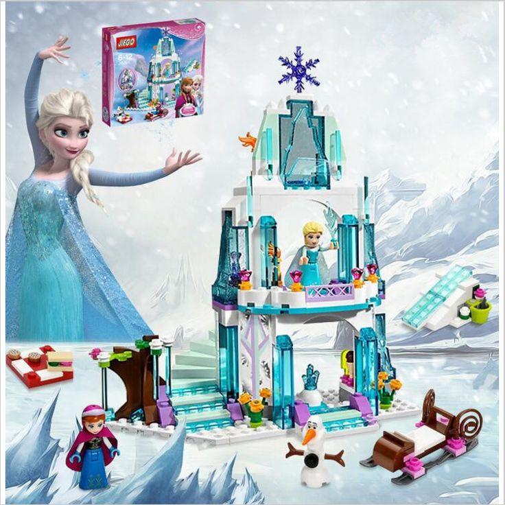 316pcs Color  Dream Princess Elsa Ice Castle Princess Anna Set Model Building Blocks Gifts Toys Compatible lepin Friends