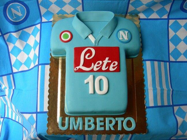 Torta maglia Napoli calcio