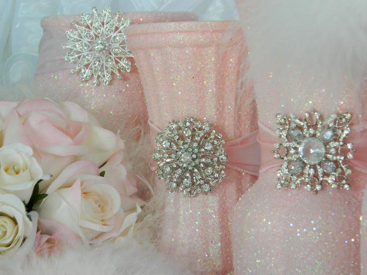 Wedding Centerpiece, Wedding Decorations, Pink, Shabby Chic Wedding, Spring Wedding, Princess Party, Baby Shower, Bridal, Weddings, Summer. $39.00, via Etsy.