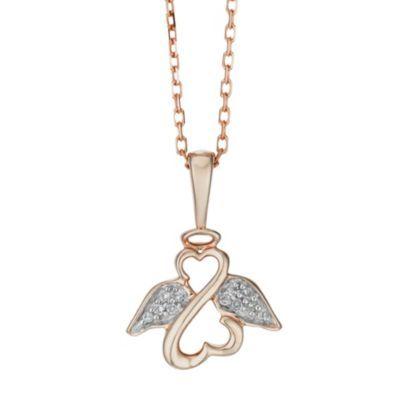 Open Hearts Angels By Jane Seymour Rose Gold Diamond