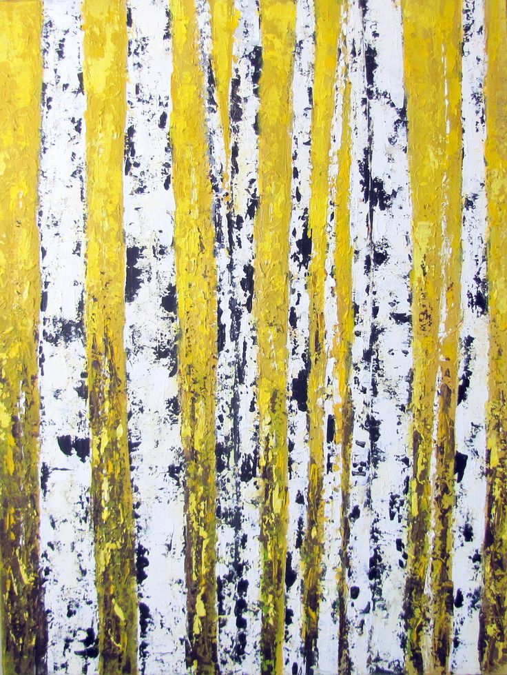 Painting Tree Trunks Acrylic