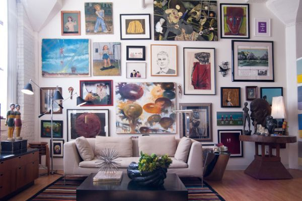 Gallery walls are a great way to add some life to a room. Get great ideas on how to arrange artwork in your home: Tips And Ideas For Creating A Beautiful Wall Art Gallery. http://www.homedit.com/tips-and-ideas-for-creating-a-beautiful-wall-art-gallery/