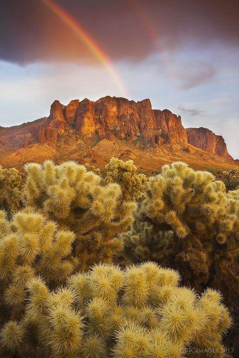 Superstition Mountains, Arizona; photo by Peter Coskun
