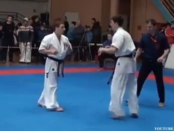 If you only watch one karate kick knockout all day, make it this one. This video comes from the PPO Karate Championships in Ulyanovsk, Russia, where t...
