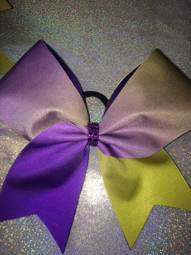 Ombre' Purple n Yellow Cheer Bow * Team * by TheCheerBowBabe on Etsy