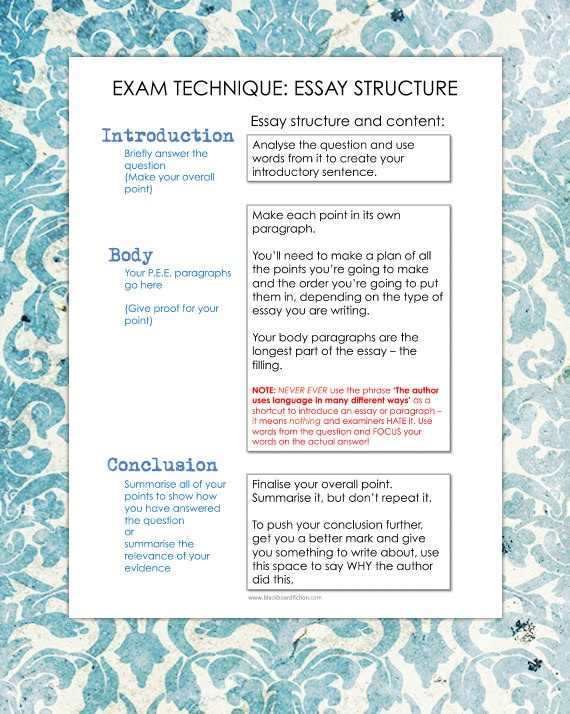 exam essay writing technique Sat essay tips: 15 ways to improve your and the last five tips for sat essay writing show you how because the sat essay is at the very end of the test.