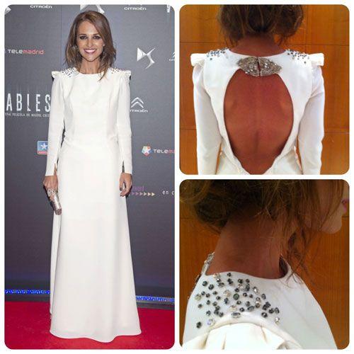 El look de novia de Paula Echevarría con vestido de Beba's Closet #boda #vestidos