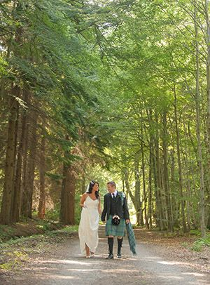 Scottish wedding in the woods a la banchory lodge.