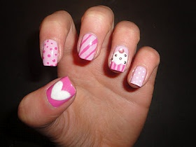 Pinks: Nails Art, Nails Design, Nailart, Cute Nails, Pink Nails, Pink Cupcakes, Nail Design, Cupcakes Nails, Cupcakes Rosa-Choqu
