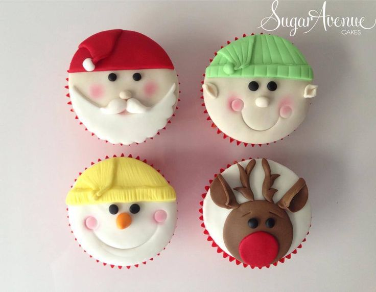 Christmas cupcakes made in a workshop with year 1 school children.