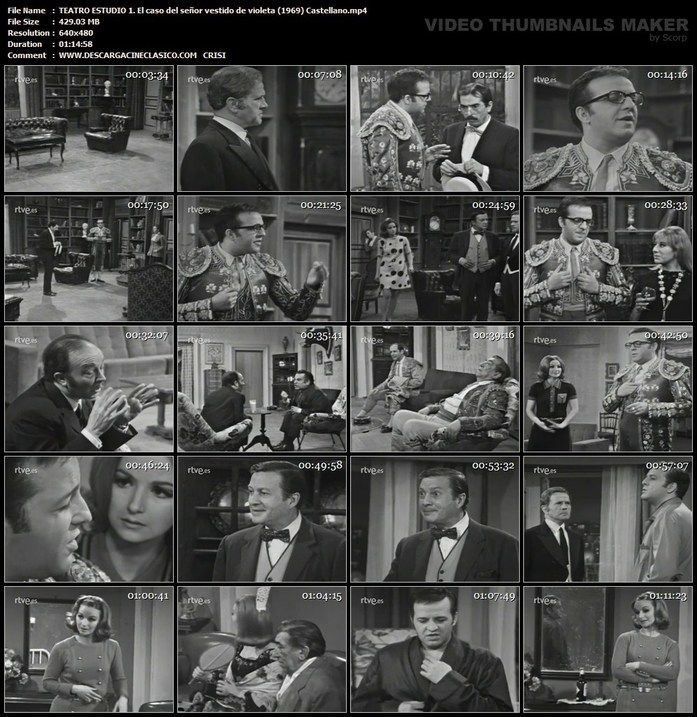 Estudio1 Teatro Español El caso del señor vestido de violeta (1969)