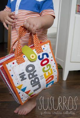 quiet book- don't forget to put handles on it to make it easy to carry!