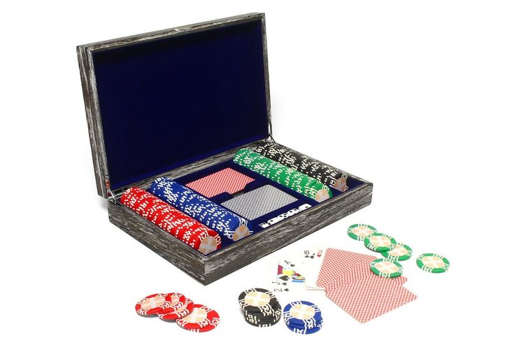 Vintage Solid Wood Poker Set - IN STOCK FOR QUICK SHIPPING