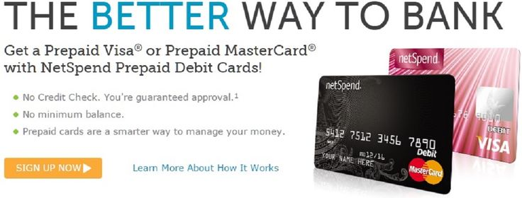 Get $20 Deposited Absolutely Free Upon Activation & $20 Per Referral!    No credit check! Free activation! No minimum balance required! Keep track of your spending balance online, browse discounted offers, refer friends, plus more! When you sign up and active a prepaid Netspend (Visa or Master Card) and load a minimum of $40 you will get $20 deposited to your account for free as a reward for opening your Netspend account. To find out more, visit website.