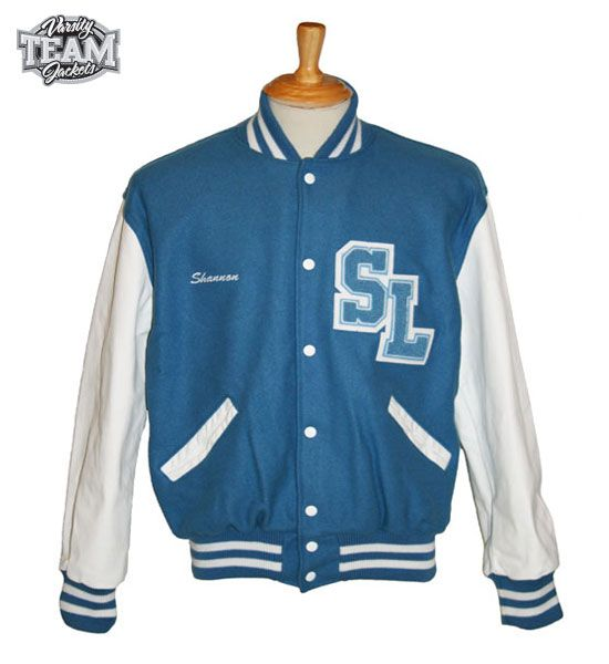 Sumalodge Quarterhorses custom wool and leather varsity jacket front with chenille patches and embroidery by Team Varsity Jackets. www.teamjackets.net www.facebook.com/TeamVarsityJackets