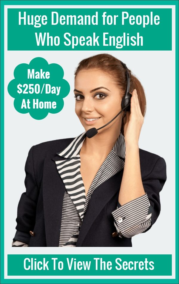 ******Huge demand for people who speak English****  ******How To Make $250/Day Just Speaking English**