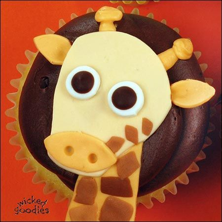 Cupcakes - How to Make Giraffe Cupcakes tutorial - by Wicked Goodies - chocolate with buttercream - #cupcakes