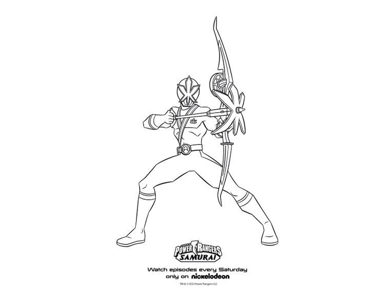 Blue Samurai Power Ranger Coloring Pages