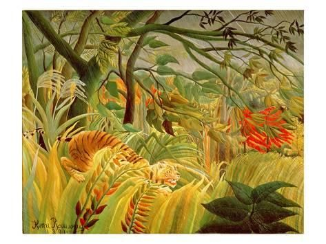 Tiger in a Tropical Storm (Surprised!) 1891 Giclee Print by Henri Rousseau - AllPosters.co.uk