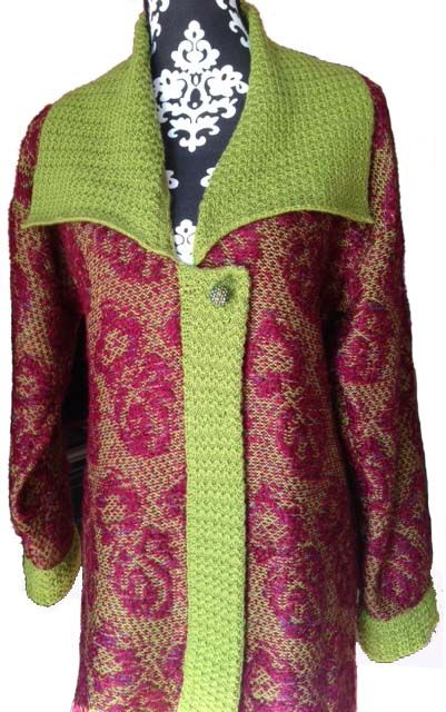 Original design knitweave winter coat with windproof lining