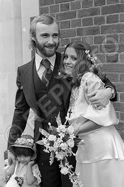 English musician, singer-songwriter, and multi-instrumentalist Phil Collins first wedding was to Canadian Andrea Bertorelli in 1975. After their divorce he was married to Jill Tavelman 1984-1996.  A third marriage, to Orianne Covey. lasted 1999-2008. Collins stated in 2010 that he has no intention of marrying again.