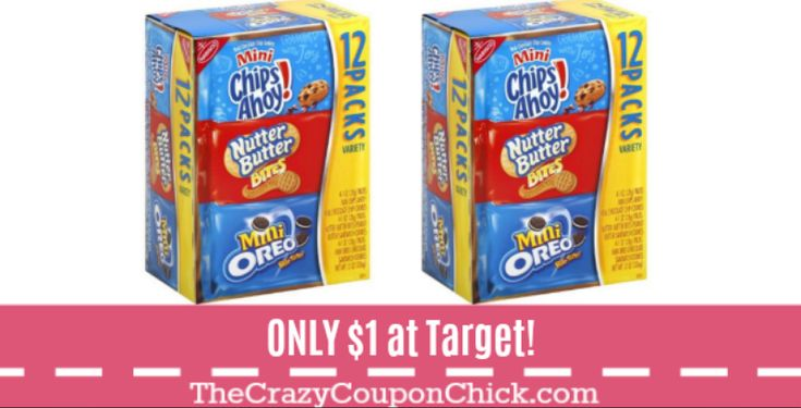 Stock UP! Nabisco Cookie & Cracker Multipack Snacks ONLY $1 at Target! (Reg. $5)