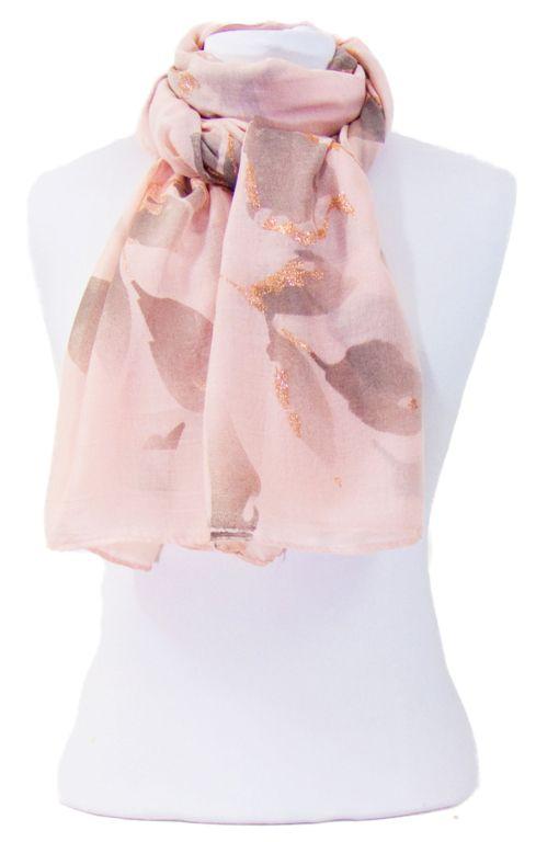 Foulard rose fleurs paillettes or. Découvrez sur mesecharpes.com + de 150  foulards chèches 67a94629cd5