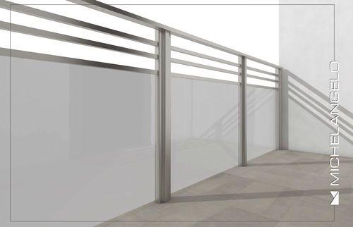 Barandilla de vidrio / de aluminio / con paneles de vidrio / de barras Michelangelo MAPIER GROUP S.R.L.
