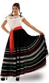 Resultado de imagen para cómo es el traje disfraz de la mujer para la noche mexicana