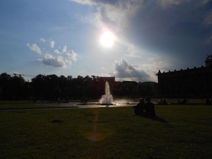 Fountain, Garten, Berliner Dom, Berlin, Germany Sun, Dome, Park