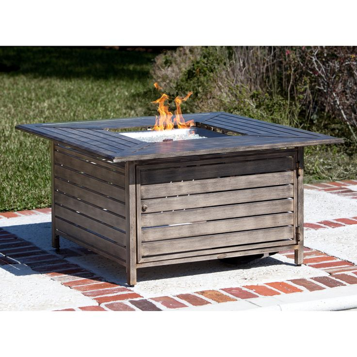 Red Ember Willow Aluminum Propane Gas Fire Pit Table - Keep guests warm and entertained at your outdoor conversation space with the Red Ember WillowAluminum Propane Gas Fire Pit Table . Crafted from...