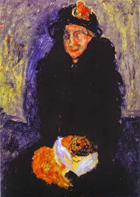 Mulher Idosa com Cão - Chaïm Soutine e seu expressionismo violento e atormentado