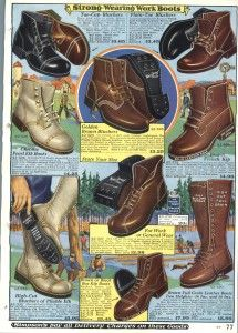 Mens 1920s Shoes History and Buying Guide - 1928 Mens Winter Boots Simpsons Catalog  http://www.vintagedancer.com/1920s/mens-1920s-shoes/