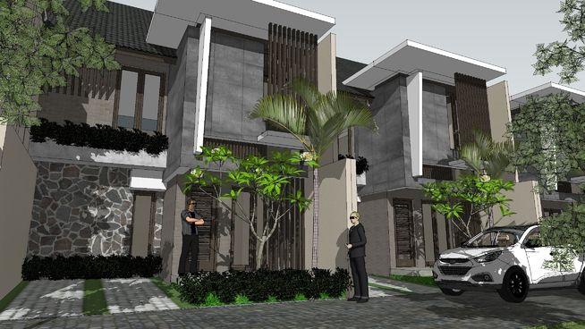 Konsep Tampak Rumah Tipe MULIA by aguscwid - 3D Warehouse