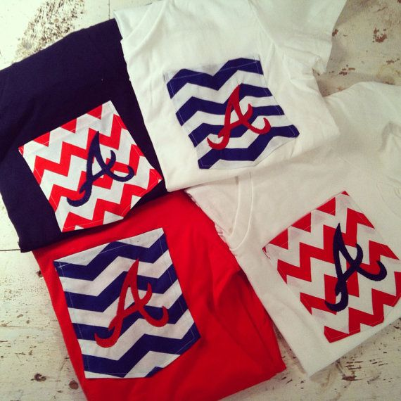 Atlanta Braves Monogrammed Tshirts by ElsBriarPatch on Etsy ... Would be awesome to make vols shirt