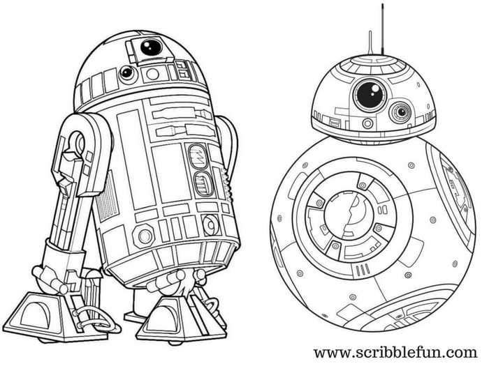 Star Wars Coloring Pages Bb8 Display