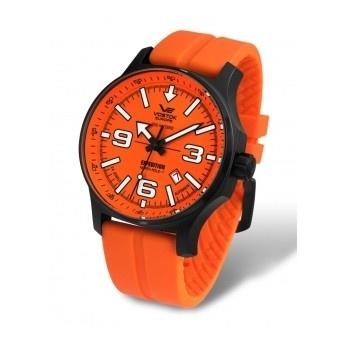¡Póngamos un toque de color a nuestra muñeca! Reloj Vostok Naranja Expedición Polo Norte  http://www.tutunca.es/reloj-caucho-naranja-carga-manual-vostok-north-pole
