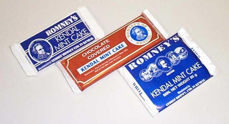 Kendal mint cake. Scottish candy, Scottish sweets, British candy, British sweets,British candy box